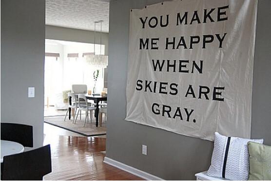 Happy when skys are grey