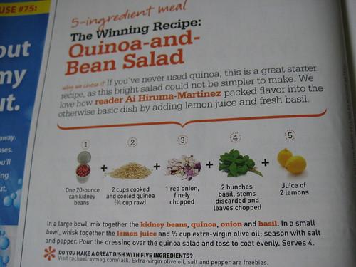 Quinoa and Bean Salad Rachel Ray