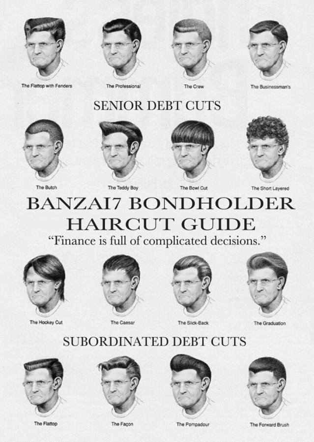 OFFICIAL BONDHOLDER HAIRCUT GUIDE
