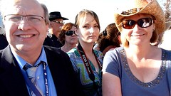 Will and Kate at Calgary Stampede - pix 25b - Ricky Bell (Calgary Sun columnist) mid interview
