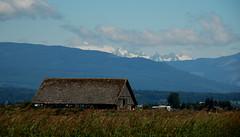 Mountains and Barn