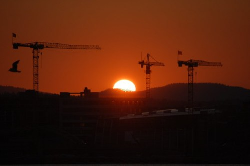 Sunset over Oslo