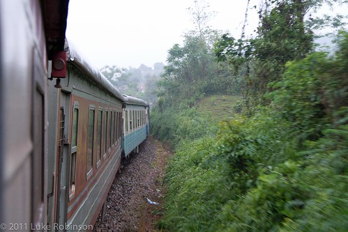 Train into Lao Cai