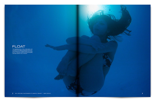 Design Project: Underwater Magazine Spread - pgs. 2 & 3