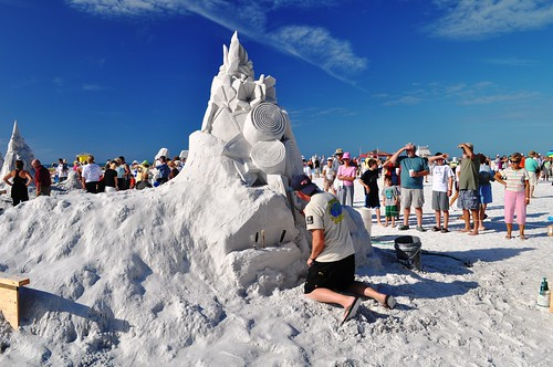 Siesta Key Crystal Classic Master Sandsculpting Competition, Nov. 20, 2010: BioTech by Shawn Fitzpatrick & Fred Mallet