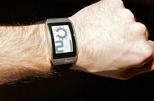 Phosphor e-ink Uhr