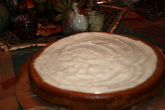 Pumpkin Cheesecake with Marshmallow/Sour cream topping