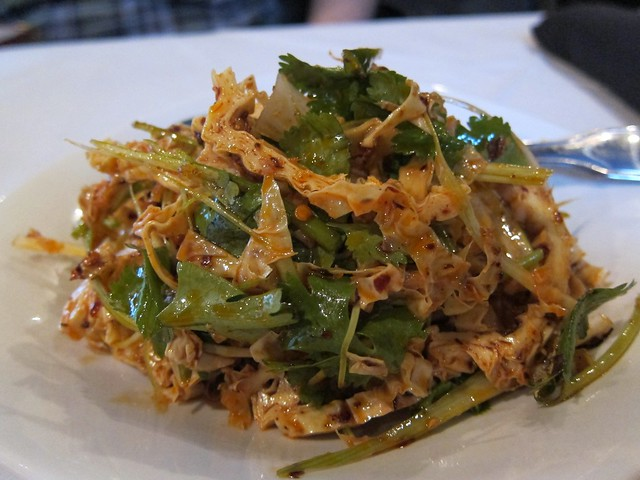 peter chang's - tofu skin in chili sauce