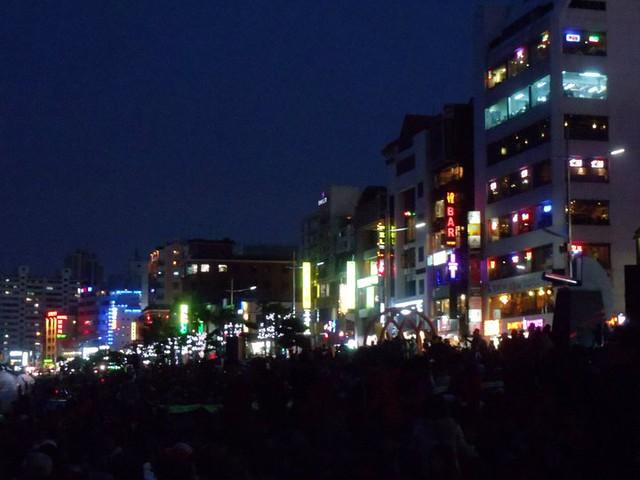 Firework festival crowds
