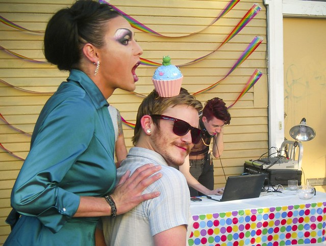 "Fierce party at Humphry Slocombe's for the ""Big Gay Ice Cream Truck"" dude"