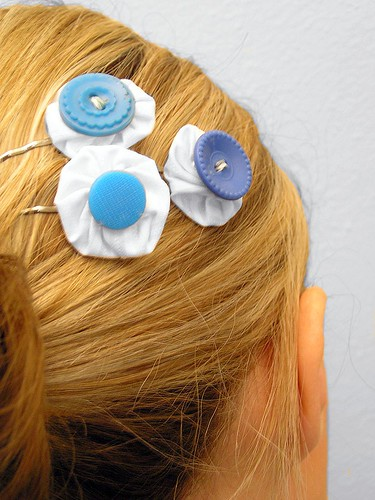 Something Blue hairpins