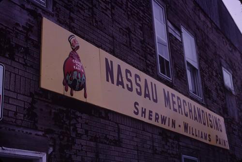 Nassau Merchandising SIgn, December 26, 2010 - my final Kodachrome shots