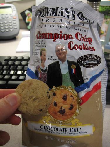 chocolate chip cookies Newman's Own Organics