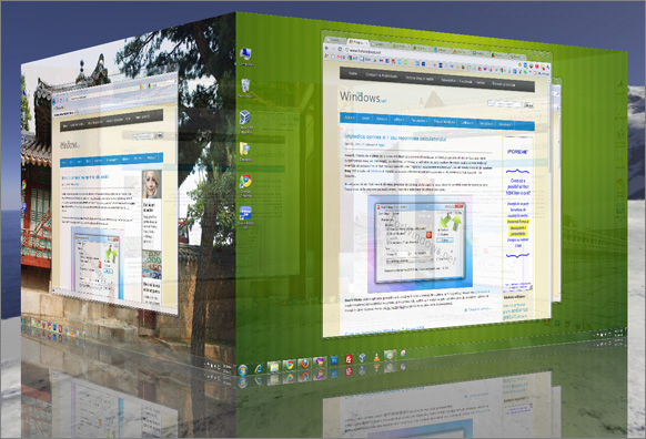 Desktop 3D in Windows XP, Vista si Windows 7