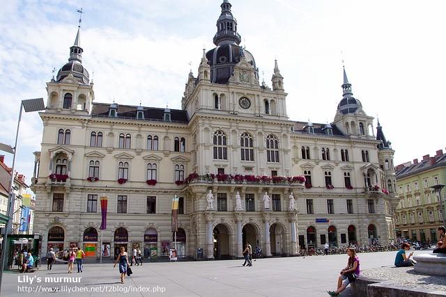 Graz市政廳,比維也納市政廳小了一半左右。