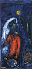 Chagall, Marc  - Lovers near bridge  - 1948