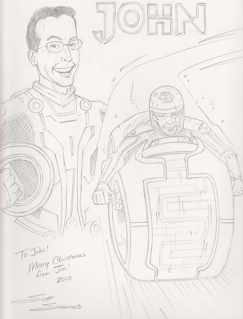 Tron sketch by Scott DM Simmons