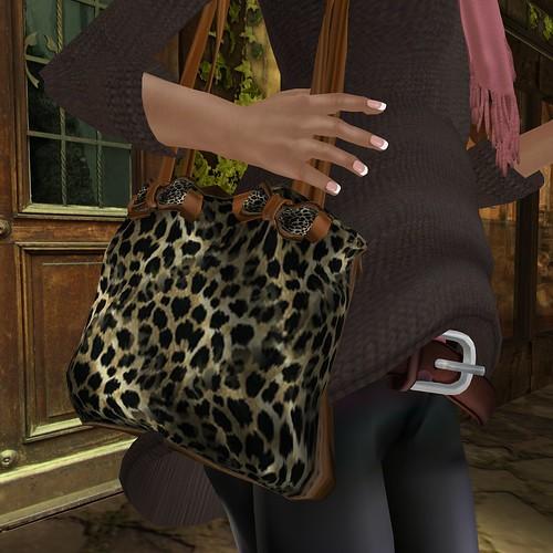 (Milk Motion) My leopard bag