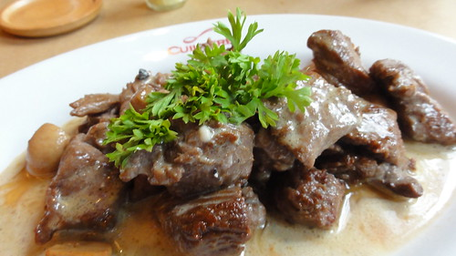 Beef Tips In Blue Cheese Sauce
