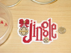 Finished Mill Hill Jingle Ornament Cross Stitch Kit