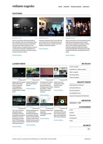 The New 2011 widiantonugroho.com Site
