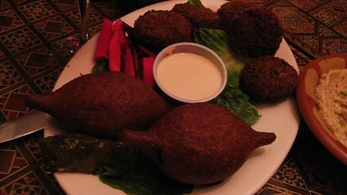 kebbeh and falafel