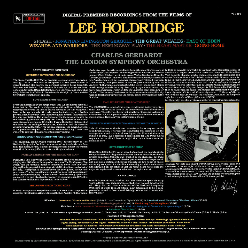 Lee Holdridge - Digital Premiere Recordings from the Films of Lee Holdridge