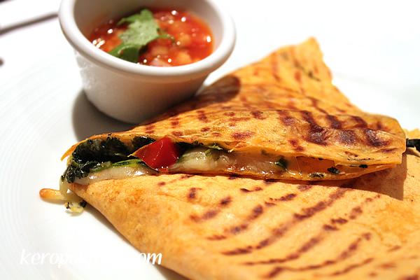 Grilled Mediterranean Quesadilla (Vegetarian)