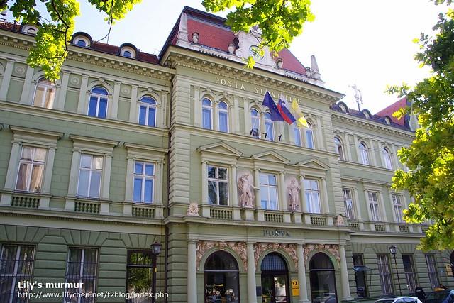 這是斯洛維尼亞郵政總局,奇妙的是郵政總局沒有在首都Ljubljana耶?