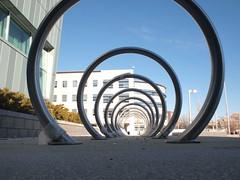 image of bike racks at GMU in Arlington