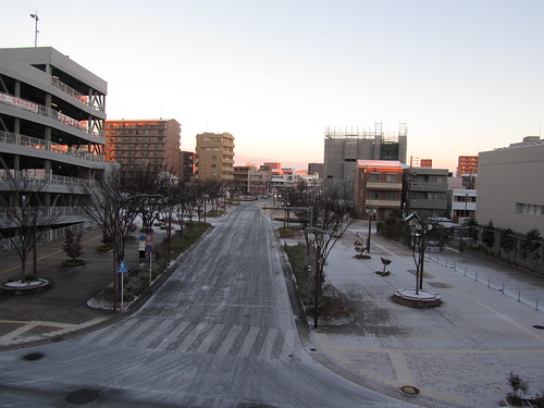 Hamamatsu lightly dusted in snow