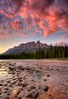 Castle Mountain Sunset by Michael James Imagery