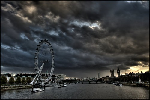 Storm brewing over the Thames