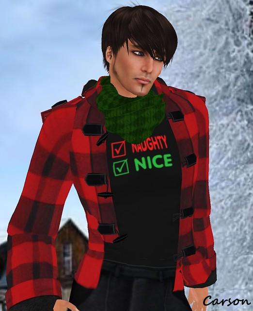 sf design duffle coat terri.tees Naughty or Nice t-shirt 22769 green scarf advent (2)