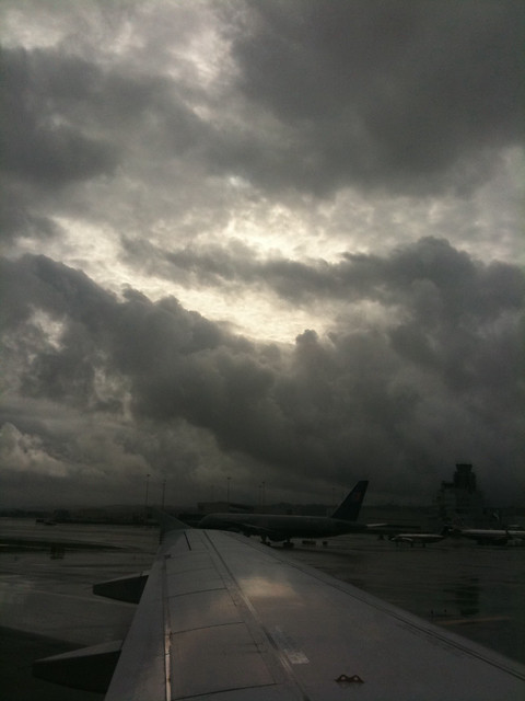 Clouds over SFO