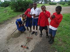 Colegiales en Buea, Camerún