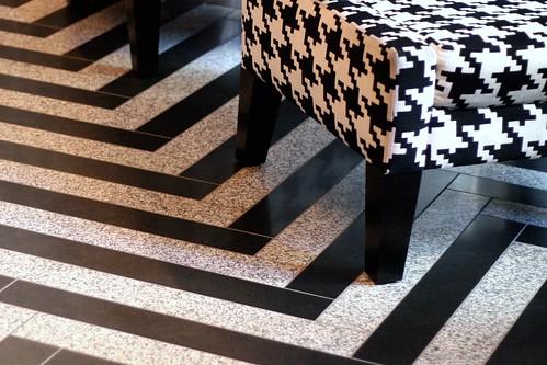 tiled + houndstoothed