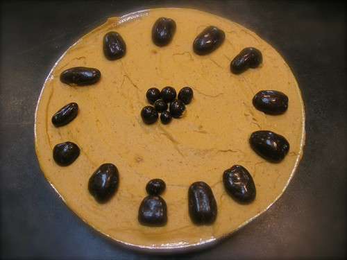 Pumpkin Tort with dark chocolate covered pecans