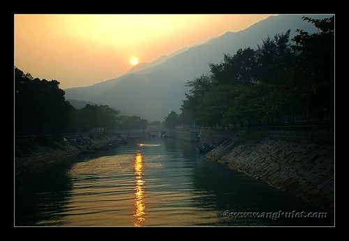 Sunset in Mui Wo, Lantau Island, HK 2010