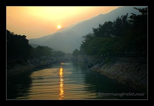 Sunset in Mui Wo, Lantau Island, HK 2010