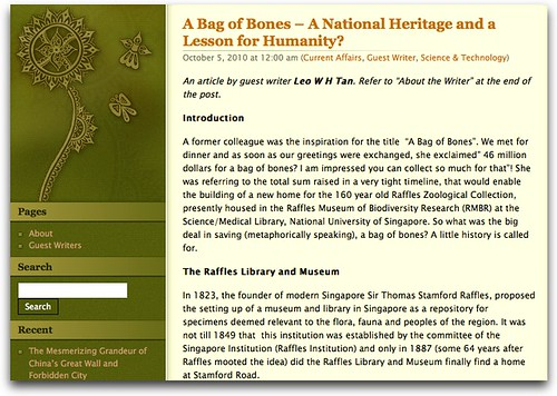 A Bag of Bones – A National Heritage and a Lesson for Humanity