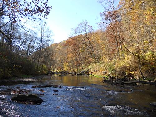 The Gunpowder River In Fall