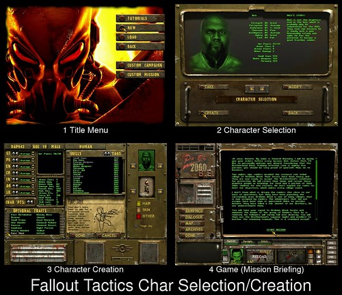 Character Creation in Fallout Tactics