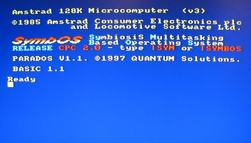 Amstrad CPC 6128 with SymbOS and Parados