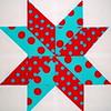 Starflower Quilt Block por Sewing Geek