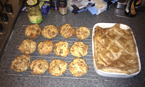 Turkey And Bacon Pie And Salami Cheese Savoury Muffins