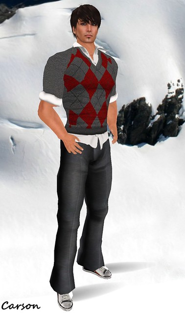 Wilson's - Charcoal grey  pants  Wilson's - Sweater for POE Huntwith crease