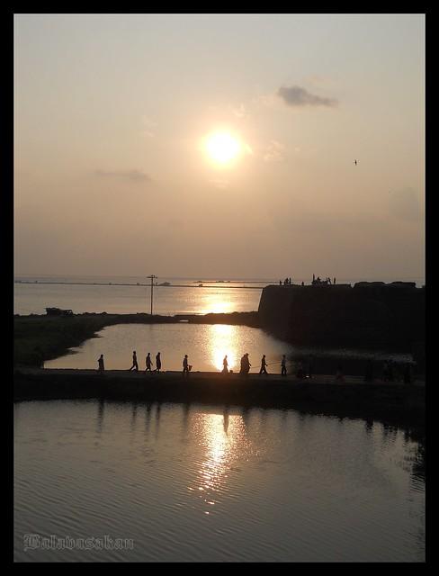 Sunset @ Fort site