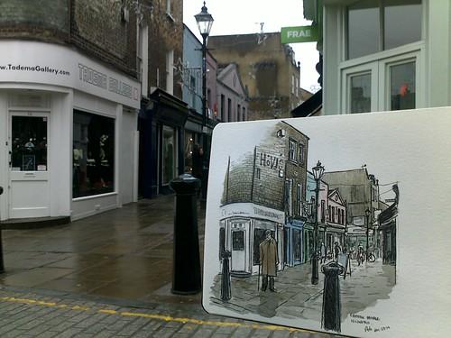 sketching in islington