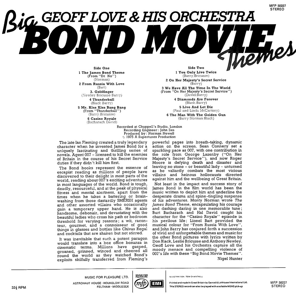 Geoff Love - Big Bond Movie Themes